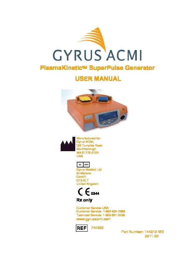 plasmakinetic superpulse generator user manual rh akinglobal com tr
