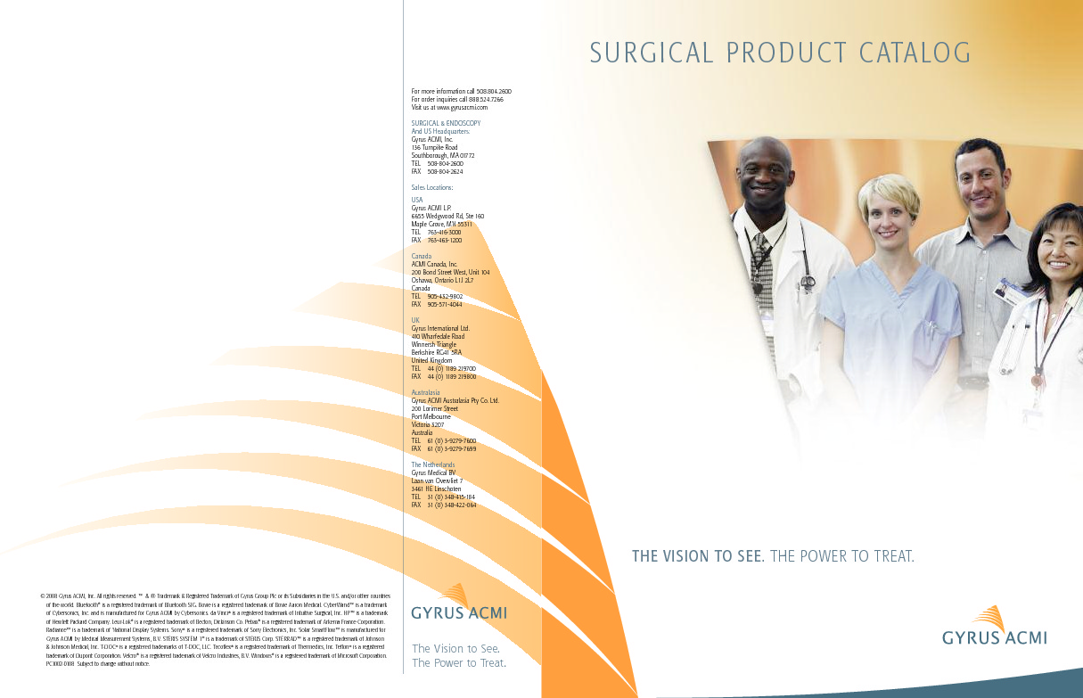SURGICAL PRODUCT CATALOG