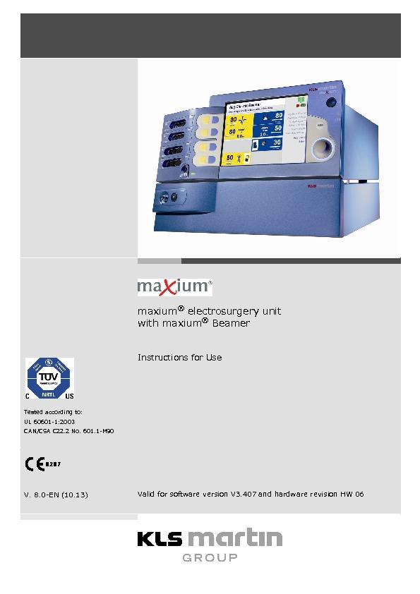 maxium® electrosurgery unit with maxium® Beamer
